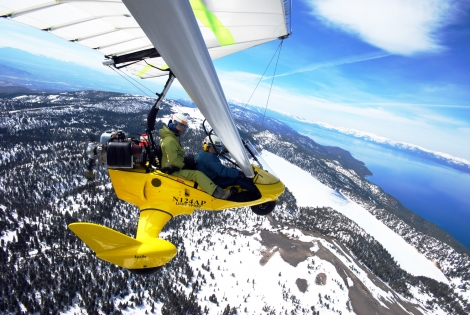 Winter flying at Lake Tahoe