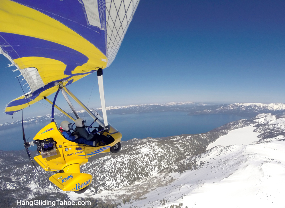 Hang Gliding Tahoe Winter Flying