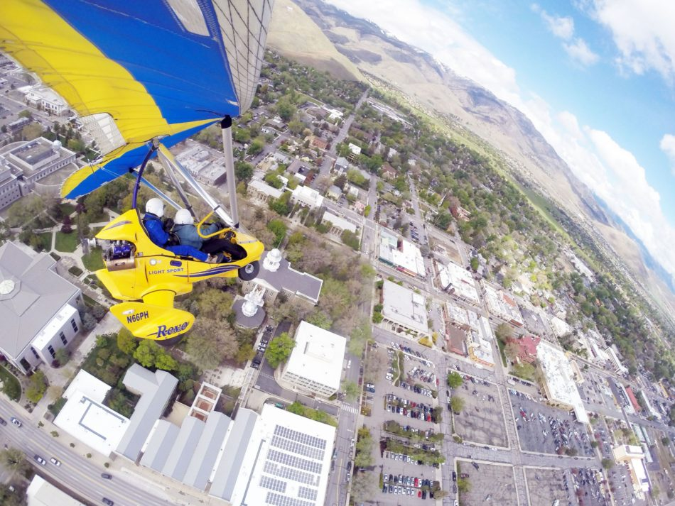 Hang gliding over Carson City Nevada