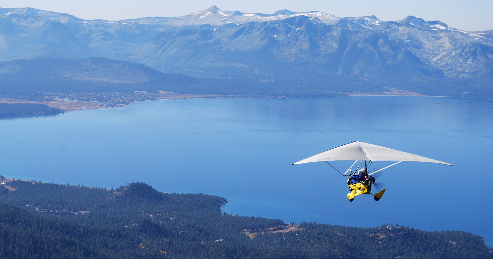 West Shore of Lake Tahoe with Hang Gliding Tahoe