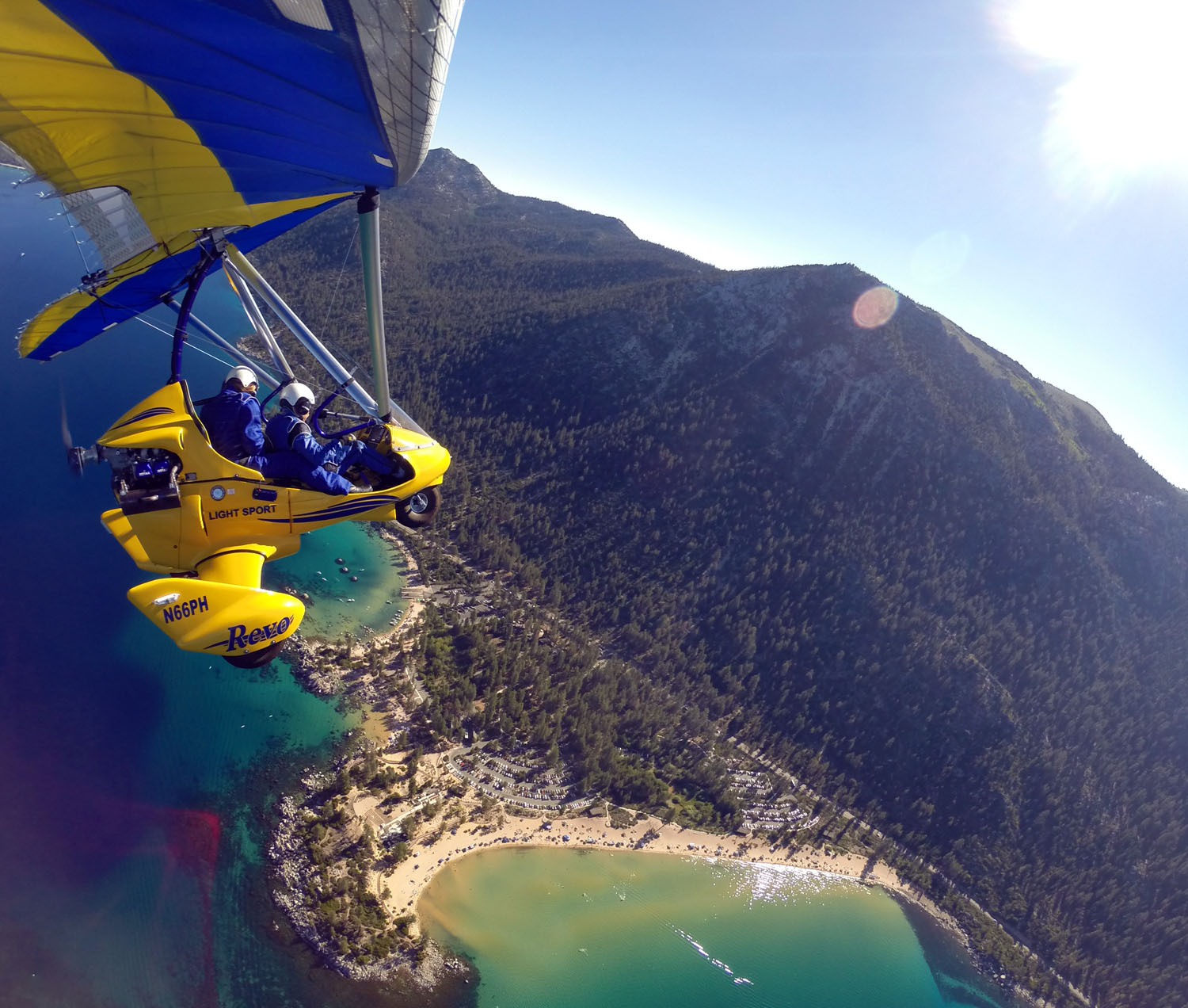 Hang Gliding Above Zephyr Cove