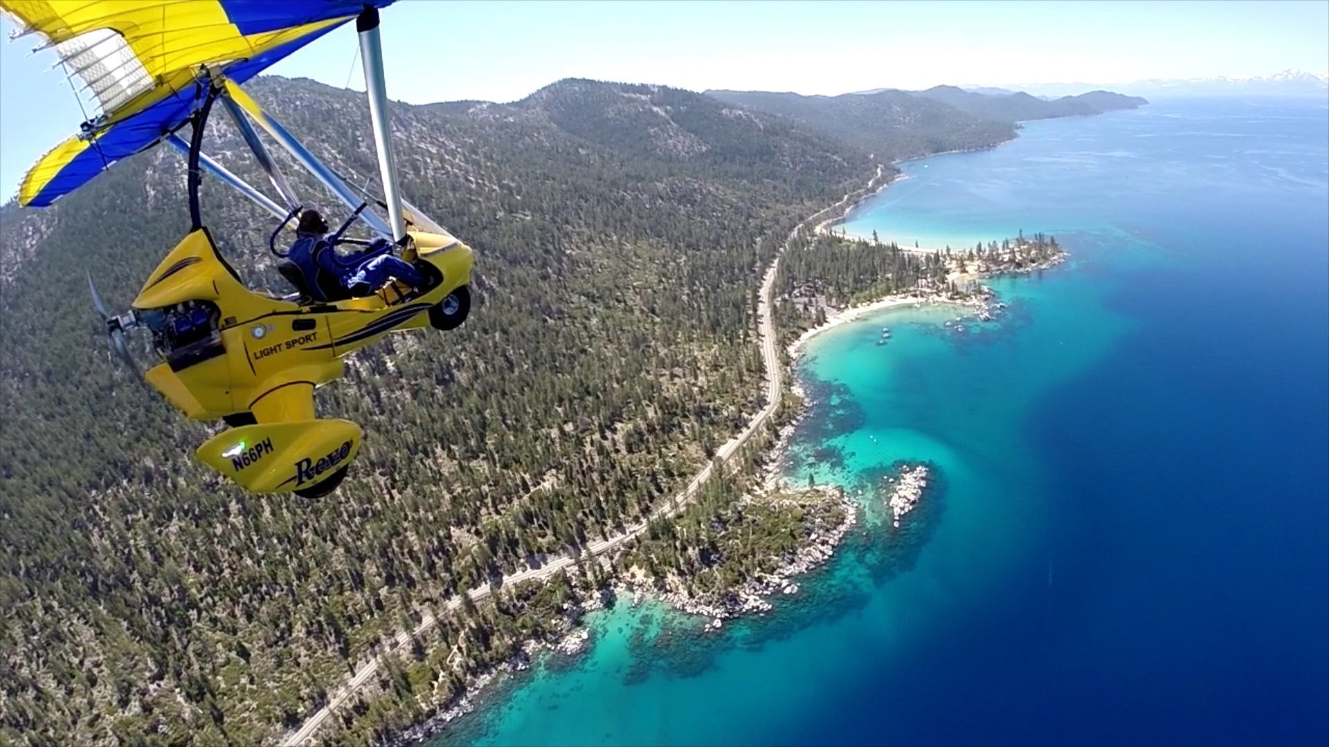 Hang Gliding above Lake Tahoe East Shore Zephyr Cove
