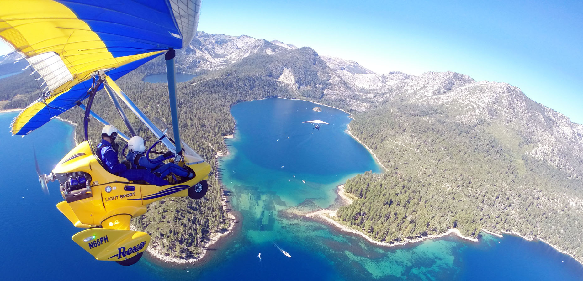 Hang Gliding Above Emerald Bay Lake Tahoe