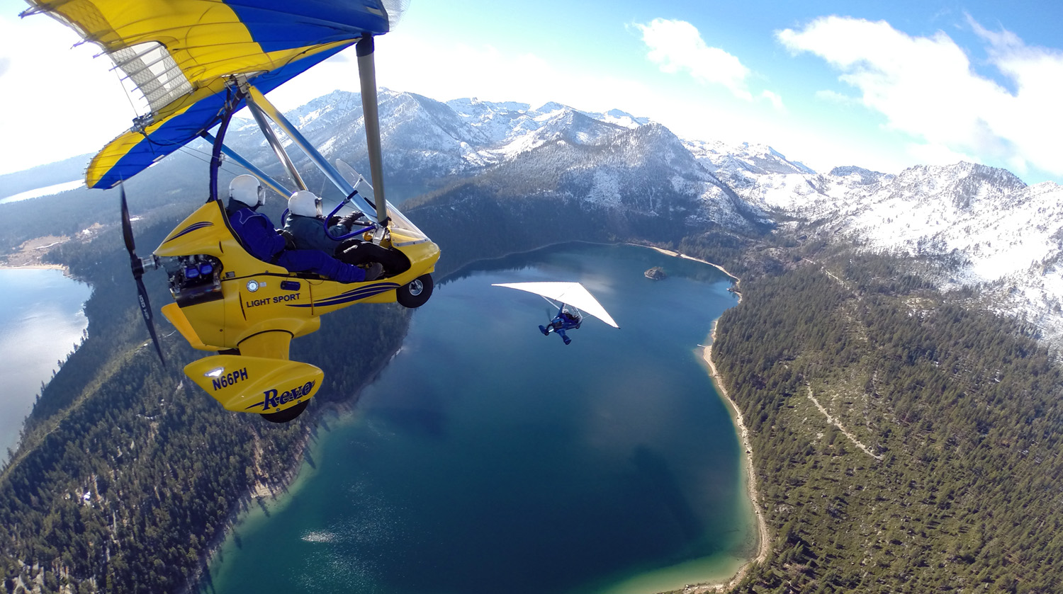Hang Gliding Tahoe Fly Two Above Emerald Bay