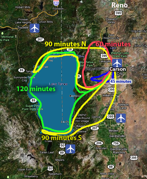Hang Gliding Tahoe Around Lake Tahoe Flight Routes for Lake Tahoe Experience