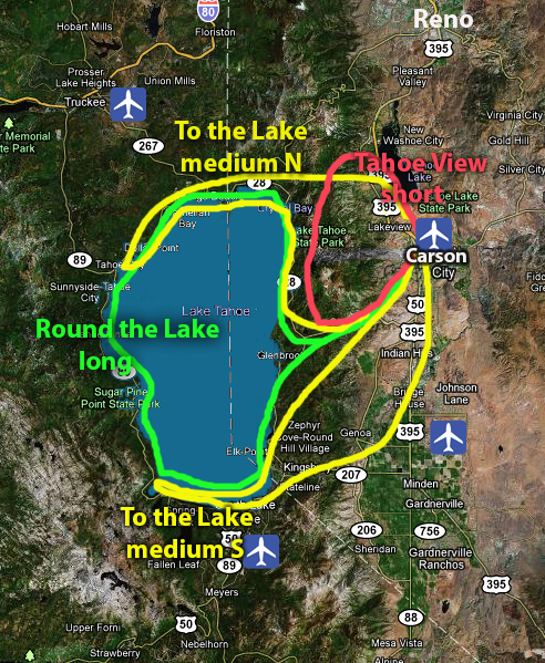 Hang Gliding Tahoe Around Lake Tahoe Flight Routes for Hang Gliding Tahoe Experience